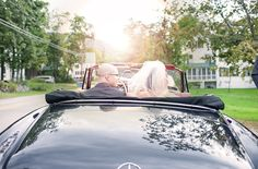 vintage wedding get away car - 1950s Mercedes Cabriolet by Tyra Bleek and Alden Blair Events