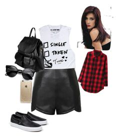 Fashion by cokea on Polyvore featuring polyvore, fashion, style, Ally Fashion, Vans, PARENTESI, Rifle Paper Co and Revlon