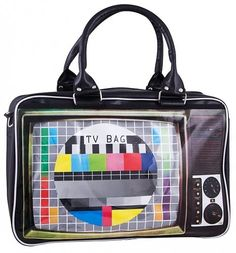 Retro TV Weekend bag via Truffle Shuffle. Unique Handbags, Unique Purses, Unique Bags, Cute Purses, Purses And Handbags, Novelty Bags, Cute Bags, Fashion Bags, Geek Fashion