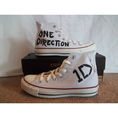 Tenis Converse One Direction ❤ liked on Polyvore