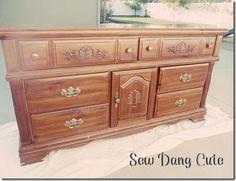 Sew Dang Cute Crafts: Dresser Transformation Take #2
