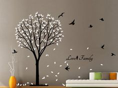 We have two directions for this wall stickers. Wall Sticker Size Rub firmly with a card to eliminate all air bubble until stickers fully adhere. Stickers will stick to any smooth and clean surface such as walls, doors. Christmas Window Stickers, Wall Stickers, Decals, Vinyl Decor, Bird Tree, Carving, Homes, Future, Wallpaper