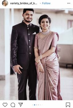 Engagement Dress For Groom, Kerala Engagement Dress, Engagement Saree, Couple Wedding Dress, Engagement Ideas, Christian Wedding Sarees, Christian Weddings, Christian Bride, Indian Bridal Outfits