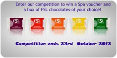 Enter our FSL launch competition to win a spa voucher and a box of FSL chocolates