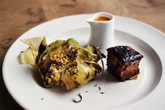 Corn and Quinoa Tamale, Salsa and Glazed Belly Pork | Bruno Loubet of Grain Store, London