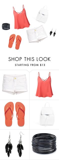 """""""Untitled #6"""" by madisonmandel ❤ liked on Polyvore featuring Havaianas, Mansur Gavriel, Alexa Starr and ABS by Allen Schwartz"""
