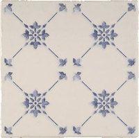 Faience imitation ciment bleu et blanc 20x20 cm ALCAZAR - 1m² Vives Azulejos y Gres