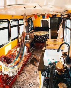 59 Amazing Caravan Interior Design Ideas- 2020 - Page 25 of 59 - coloredbikinis. School Bus Camper, School Bus House, Truck Camper, Kombi Home, Bus Living, Vanz, Van Home, Bus Life, Interior Exterior