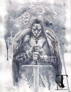 Ned Stark by Ben Templesmith