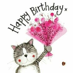 Birthday Wishes Flowers, Happy Birthday Wishes Cards, Happy Birthday Pictures, Birthday Wishes Quotes, Birthday Greeting Cards, Happy Birthday Bouquet, Clark Art, Pink Bouquet, Bouquet Flowers