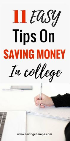 11 easy tips on how to save money in college. Use these tips to cut spending and save money on food, housing, transportation, and textbooks. | money saving tips for college students, save money on education, save money in university