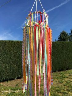 DIY-Tutorial   Summerfeeling - Windspiel aus Stoffresten