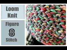 LOOM KNITTING STITCHES Figure 8 Stitch on a Round Loom - YouTube