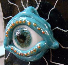 Evil Eye Pendant Borosilicate Glass Pendant Ugly Glass