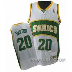 4adc1156a Gary Payton Seattle SuperSonics  20 Swingman Throwback White Jersey