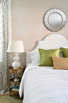 mirror, grown up bedroom, young hous, guest bedrooms, stud headboard, old houses, upholstered headboards