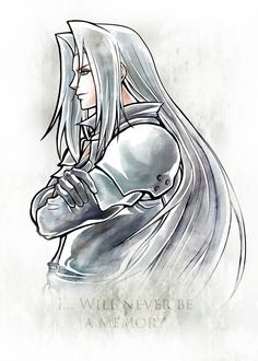 "Final Fantasy VII Sephiroth #Displate artwork by artist ""MCAshe 23"". Part of a 6-piece set featuring the main characters from the Final Fantasy franchise by Square-Enix. £35 / $47 per poster (Regular size), £71 / $95 per poster (Large size) #FinalFantasy #FinalFantasyVII #FinalFantasy7 #FFVII #FF7 #RPG #JRPG #Sephiroth"