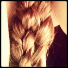 My five way plait, extremely hard to do!