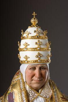 Pope Alexander VII in papal crown, ca 1492.