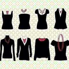 Que collar te favorece de acuerdo a la blusa que uses!! #redheadaccessories #redheadtips #tipsfornecklace #tips #necklace