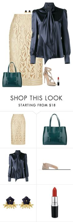 """""""Dinner party"""" by julietajj ❤ liked on Polyvore featuring N°21, Alaïa, Yves Saint Laurent, Imagine by Vince Camuto, Tessa Packard and MAC Cosmetics"""
