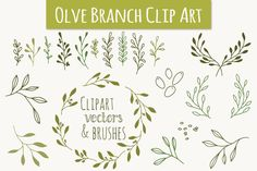 Check out Olive Branch Clip Art & Vectors by The Pen & Brush on Creative Market