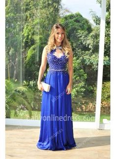 dress prom dress prom blue blue dress silk royal royal blue royal blue dress maxi maxi dress long long dress sexy sexy dress crystal crystal dress sweet pretty cool wow cute cute dress bridesmaid dressofgirl lovely love style fashion trendy girly scoop neck dream oh my vogue vogue vintage luxury chiffon