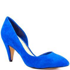 Jessica Simpson's Blue Heaton - Cobalt Blue Suede for $89.99