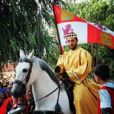 Juan II de Castilla a su encuentro con Isabel de Castilla. En Madrigal Medieval 2014
