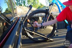 Jeremy Lathrop is raising funds for - The Ultimate Bike Rack for Trucks on Kickstarter! The Bike Rack is a perfect solution for bike riders who own trucks. There is no other truck bed rack like it on the market. Bike Stand Diy, Truck Bed Bike Rack, Van Racking, Bike Rider, Sprinter Van, Trucks, Bike Stuff, Airstream, Biking