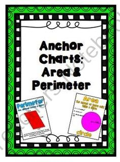 Area and Perimeter Anchor Charts from A Piece of the Pi Math and More! on TeachersNotebook.com -  (4 pages)  - Area and Perimeter Anchor Charts