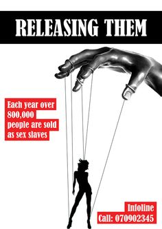 Each year over 800K people are sold as sex slaves... it's happening in the US and UK every day :*(  Human Trafficking by MT Mandeng, via Behance