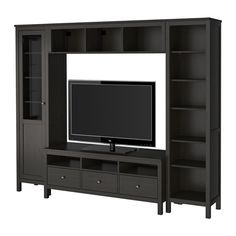 HEMNES TV storage combination IKEA- this would be perfect for our living room! It's even the same series as the coffee and side tables!