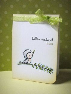 Card by Donna Mikasa using Stacey Yacula Studio stamps by Purple Onion Designs.