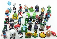 PLANTS vs ZOMBIES SET 40 FIGURAS 40 FIGURES SET Kinder Spielzeug MEGA SET