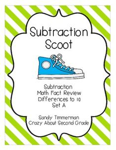 Fun math game to practice differences to 10!  Geared toward 1st and 2nd grade!