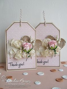 Scrappin Cookie: My Craft Spot Release Party Sneak Peak #2 - Thank You Tags