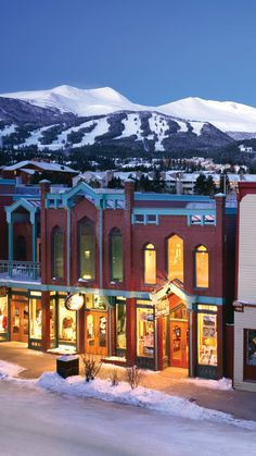 Breckenridge's charming Main Street is lined with great bars and restaurants. #Colorado Summit County, Snow Skiing, I Want To Travel, Vacation Spots, Vacation Destinations, Vacations, Colorado Usa, Colorado Winter, Colorado Trip