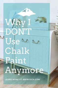 Feb 2020 - Our top 4 reasons for NOT using chalk paint, plus what we recommend instead! Chalk Paint Desk, Using Chalk Paint, Chalk Paint Projects, Chalk Paint Furniture, Colors Of Chalk Paint, Kids Painted Furniture, Paint Ideas, Chalk Paint Cabinets, White Chalk Paint
