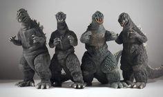 X-Plus Godzilla 1954, 1955, 1962 and 1964.