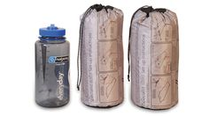 This Killer Tent Weighs Almost Nothing and Fits In Your Nalgene Bottle. Great for a weekend get away.