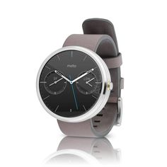 Motorola Moto 360 - Gray Leather Smart Watch (Certified Refurbished). Classic design: round display with a comfortable fit. High quality stainless steel case and Gorilla Glass prevents scratches. Delivers notifications from your phone directly to your wrist. Voice control lets you send messages, get directions, and check the weather without taking out your phone. This Certified Refurbished product is manufacturer refurbished, shows limited or no wear, and includes all accessories plus a...