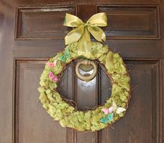 Moss butterfly wreath