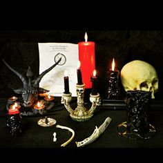This Baphomet (Sabbatic Goat head) Candle Holder is essential for any left hand path altar. Baphomet, the infernal black goat/beast of wisdom and carnal/spiritual power presents a strong visage for th