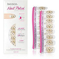 Incoco - Online Only Nail Polish Appliqués - Nail Art Designs in Eye Candy (gold glitter over clear) #ultabeauty