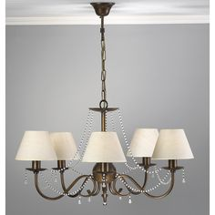Lustrarte Lighting Classic Missangas 5 Light Shaded Chandelier Finish: Earth