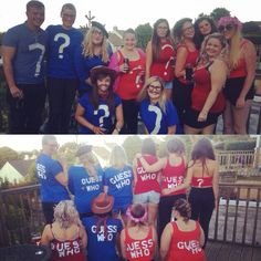 """Friday 12th August 2016: 80s vs 90s night at Falmouth week and we all dressed up as the 90s game """"Guess Who?"""""""