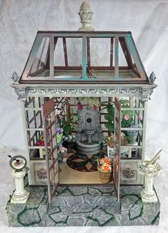 Artfully Musing: MINIATURE VICTORIAN CONSERVATORY - New Collage Sheet & Digital Image Kit & Making Molds From Objects