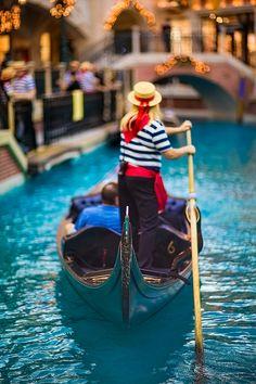 The Gondolier,  The Venetian, Las Vegas