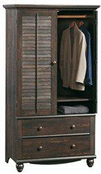 Amazon.com: Sauder Harbor View Armoire - Antiqued Paint: Furniture & Decor